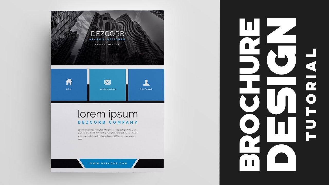 How to design brochure in photoshop cs6 corporate brochure how to design brochure in photoshop cs6 corporate brochure tutorial baditri Choice Image