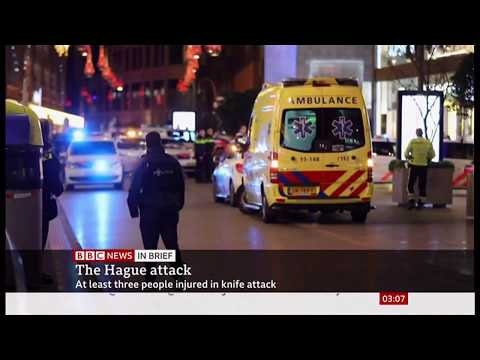 Knife attack in the Hague (Netherlands) - BBC News - 30th November 2019