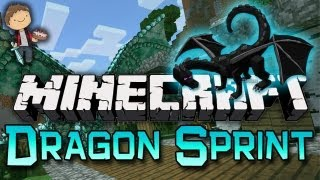 Minecraft: Dragon Sprint Parkour Race w/Mitch & Jerome
