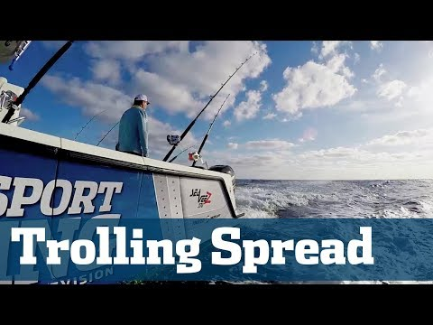 How To Set A Trolling Spread - Florida Sport Fishing TV