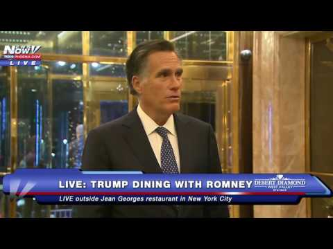 MUST WATCH: Mitt Romney Speaks To Media After Dinner With Donald Trump