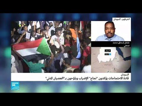 قادة الاحتجاجات يؤكدون -نجاح الإضراب- في السودان  - 15:55-2019 / 5 / 30