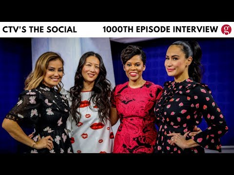 Hosts of CTV's The Social on 1000th episode