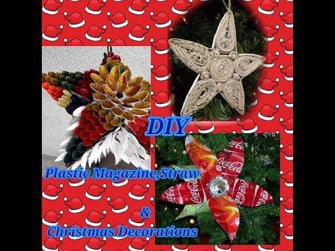 Plastic Spoon,Plastic Bottles,Magazine& Straw DIY Parol🎅   DIY Christmas Decorations 🎅