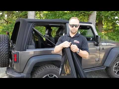 How to install soft top on Jeep Wrangler