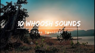 10 Free Whoosh Sound Effects Pack