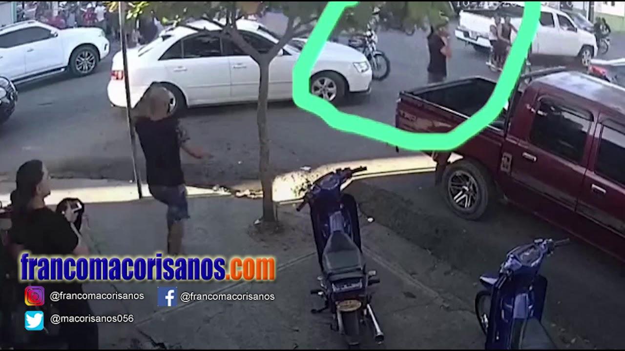 Camión embiste una mujer en San Francisco de Macorís