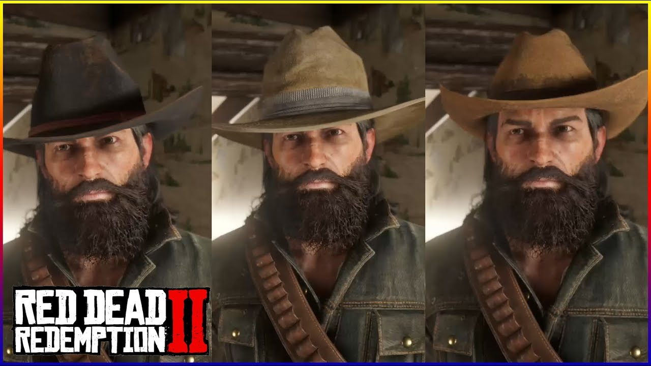 Red Dead Redemption 2 : หมวก 3 ใบนี้ เฮียขอนะ Cattle Man Hat / Cuttet Hat /  Rodeo Hat