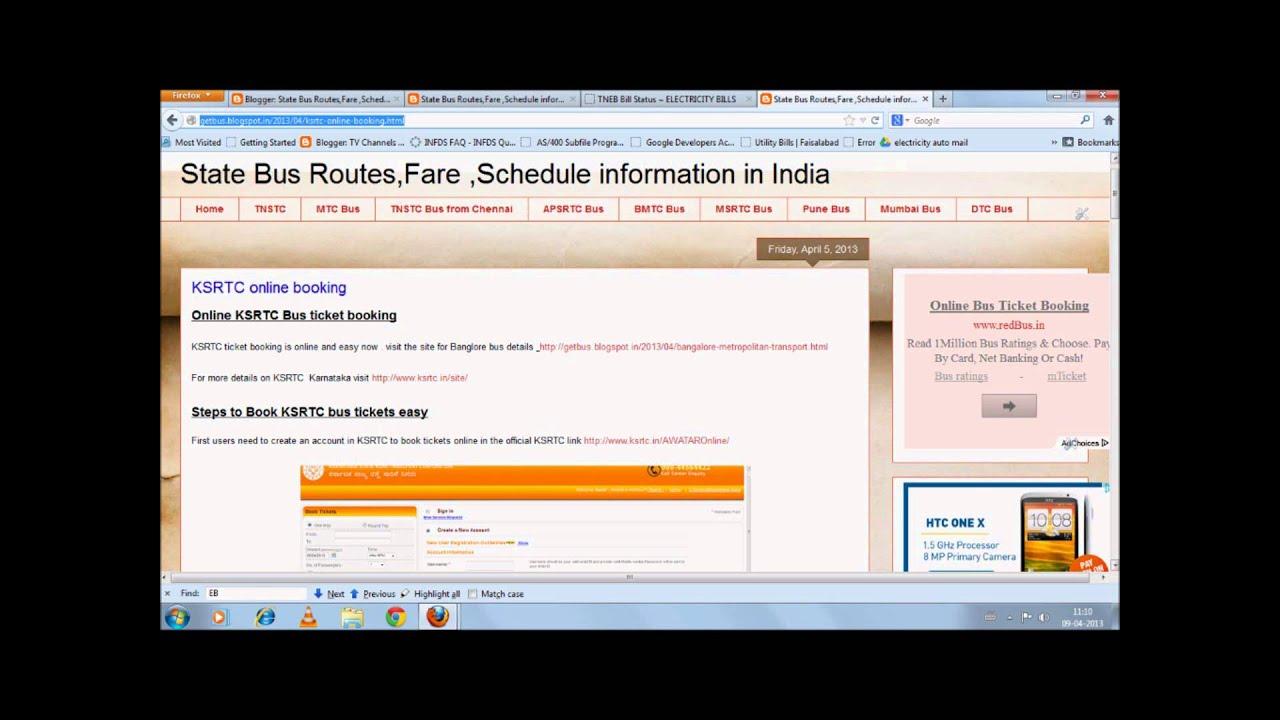 book ksrtc tickets online