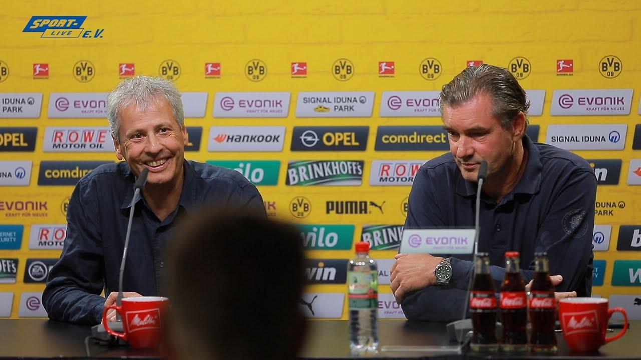 BVB-PK mit Favre und Zorc vor dem Leverkusen-Spiel