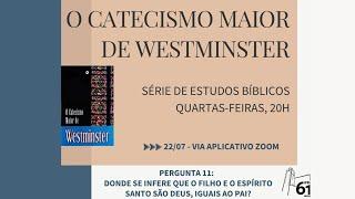 Estudo Bíblico - Tema: Catecismo Maior - Pergunta nº11