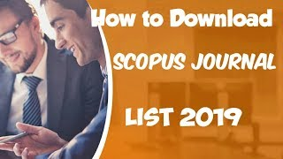 Download lagu How to download Scopus Indexed Journal list 2019 MP3