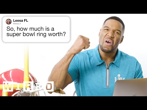 Michael Strahan Answers Super Bowl Questions From Twitter | Tech Support | WIRED