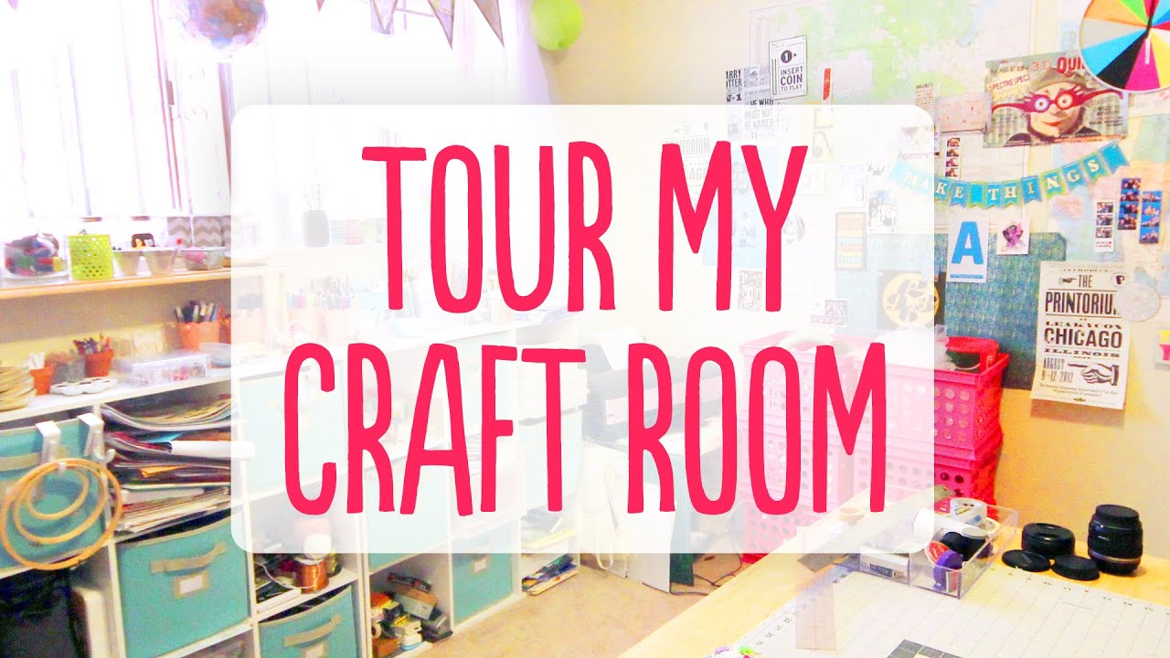 A Tour of My Craft Room - YouTube