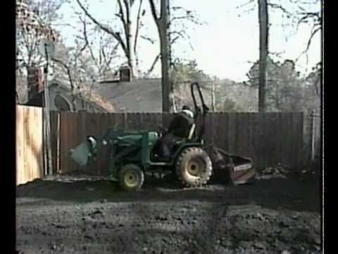 Prepping my Driveway for Concrete - Jan. 2006