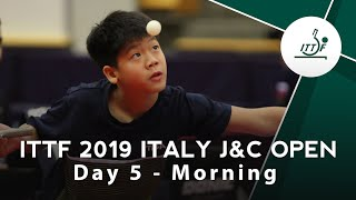 2019 ITTF Italy Junior & Cadet Open Day 5 Morning