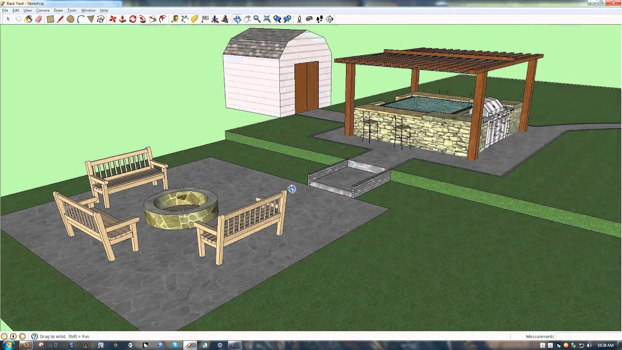 Look what you can design with Google Sketchup - My New ... on Sketchup Backyard id=96139