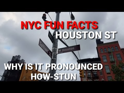 NYC Fun Facts - Exploring Houston Street | Lower Manhattan, NYC