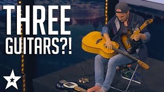 Man Plays THREE GUITARS For Got Talent Judges! | Got Talent Global