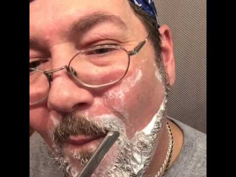 Burts bees shave cream, doesn't require water. Watch as I Bang my head and figure it out. Lol