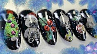 Невероятные дизайны ногтей кошачьим глазом Новогодний дизайн ногтей Экспресс маникюр