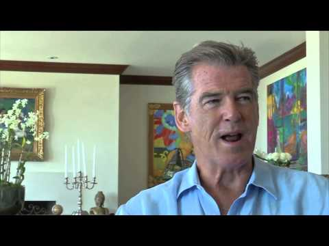 Mouth and Foot Painter Mariam Pare Meets Actor and Artist Pierce Brosnan
