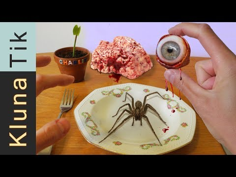 Kluna Tik eating EYEBALL, SPIDER and BRAIN |#25 KLUNATIK COMPILATION    ASMR eating sounds no talk