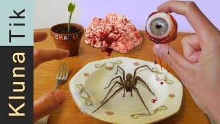 Kluna Tik eating EYEBALL, SPIDER and BRAIN |#25 KLUNATIK COMPILATION    ASMR eating sounds no talk
