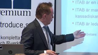 ITAB presenterar på Remium Kapitalmarknadsdag i mars 2018