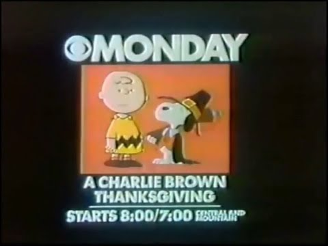 'A Charlie Brown Thanksgiving' Promo (1977) - YouTube