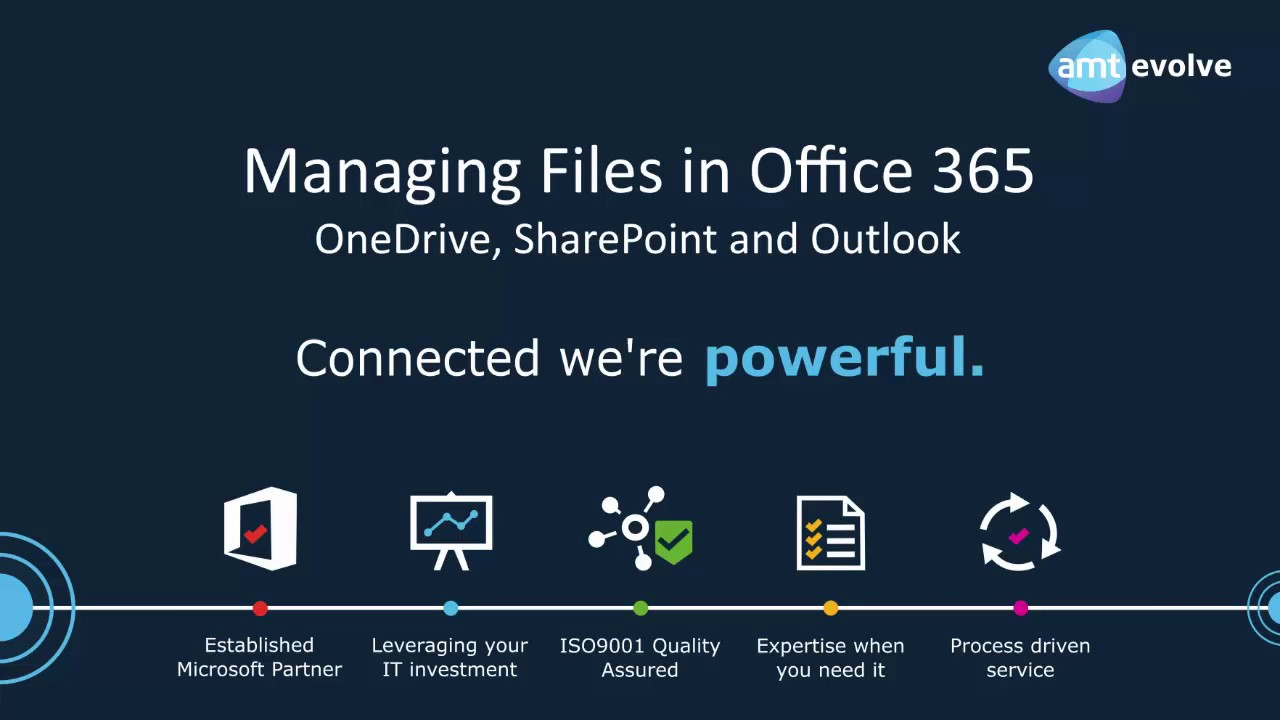 Office 365 Webinar - Managing Files in OneDrive, SharePoint and Outlook