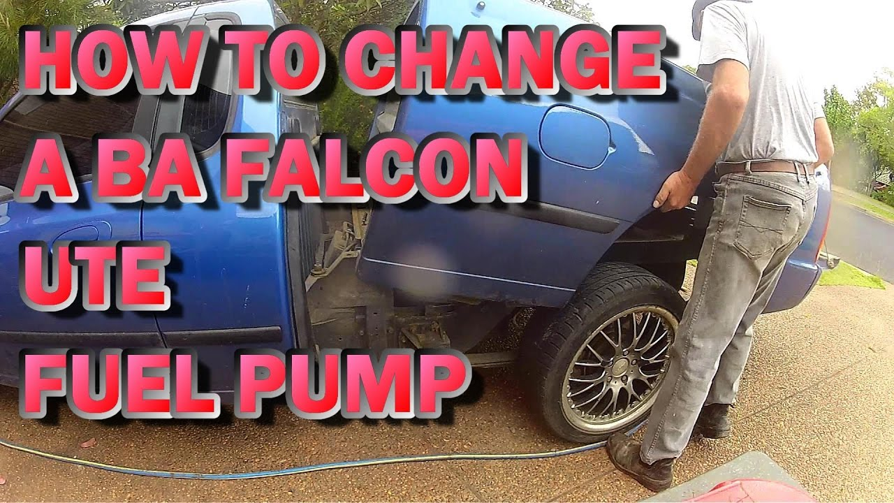 How To Replace A Ba Ford Falcon Ute Fuel Pump Youtube