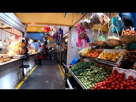 ⁴ᴷ⁶⁰ Walking San Juan Teotihuacán, Mexico : Mercado Hidalgo And City Center