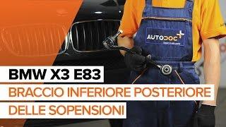 Come sostituire braccio inferiore posteriore delle sopensioni su BMW X3 E83 [TUTORIAL]