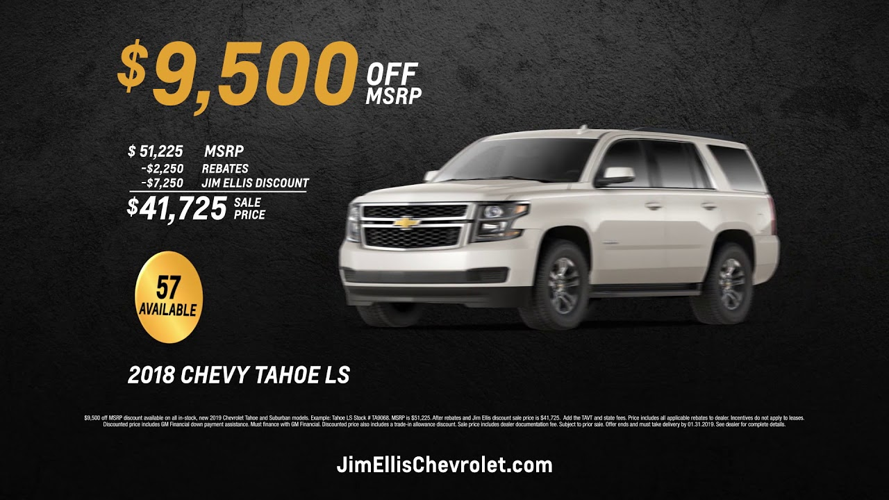 Jim Ellis Chevrolet >> Jim Ellis Chevrolet 2019 Suburban And Tahoe Sale Youtube