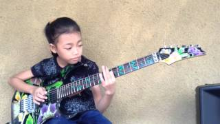 Cry for you by Andy timmons cover Ayu gusfanz (9 Years Old Indonesian Guitarist)
