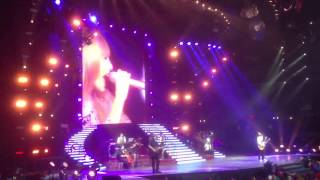 "Taylor and Sara sing ""Brave"""