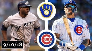 Milwaukee Brewers vs Chicago Cubs Highlights || September 10, 2018