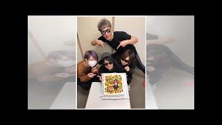 金爆・鬼龍院翔、喜矢武豊の誕生日をお祝い「ケーキ可愛い!」「感動し...
