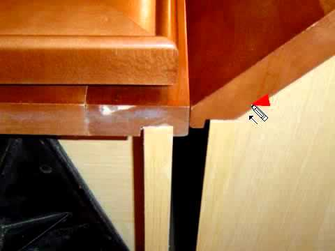 How To Together Normal And Angled Cabinets