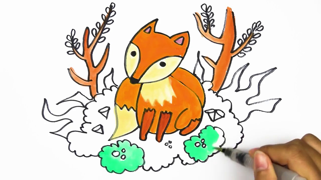 How To Draw Color Wolf Drawing Learning Kids
