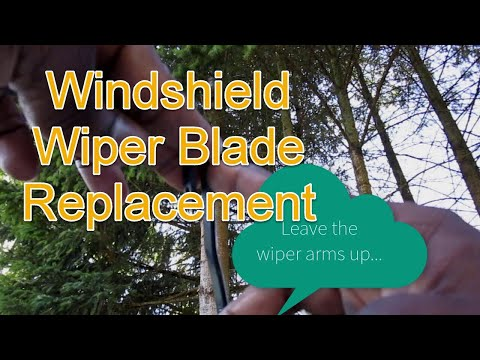 Third Generation Toyota RAV4 Windshield Wiper Replacement - How To Change J Hook Style Wiper Blades