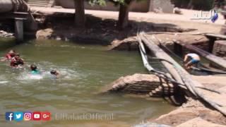 بالفيديو..أطفال عرب الحوامدية يسبحون فى ترعة الموت