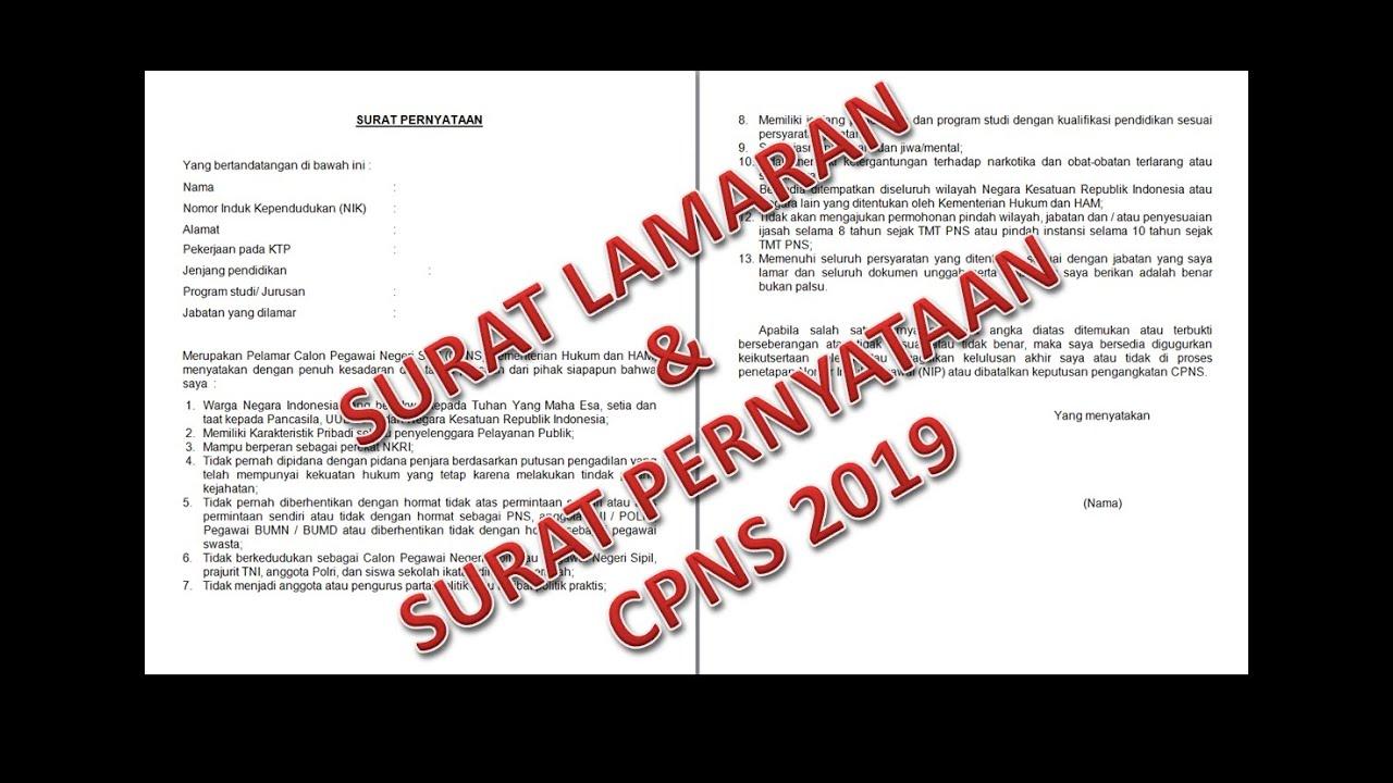 22+ Tanggal Surat Lamaran Cpns 2019