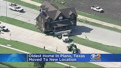 Oldest Home In Plano, Texas Gets Moved