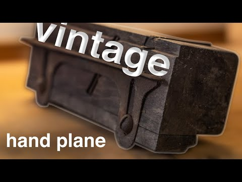 Vintage panel raising plane restoration/ Odnawianie starego struga płytnika