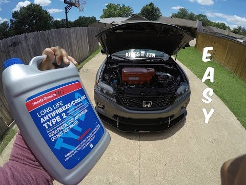 How To Flush Your Radiator Coolant - 2015 Honda Accord - YouTube