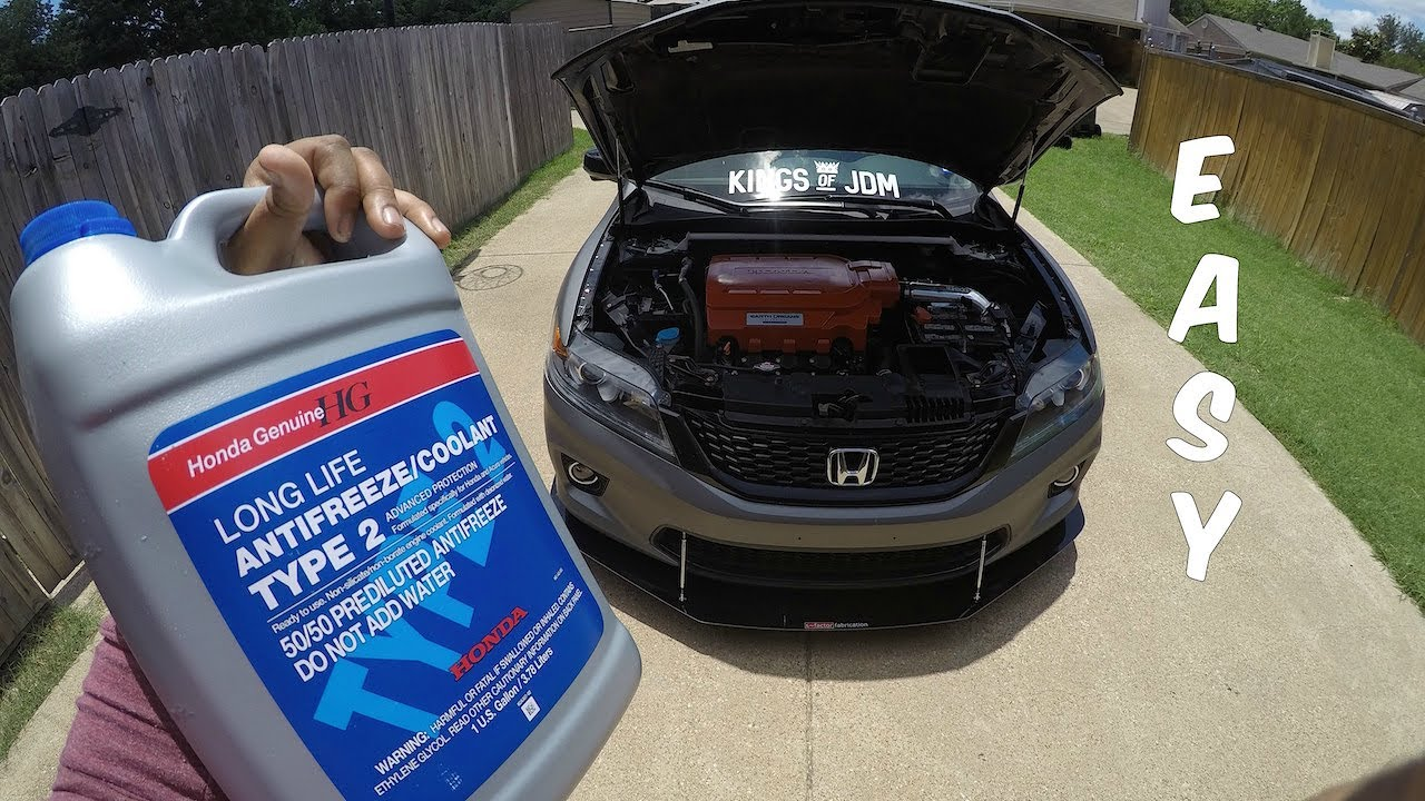 Honda Accord: Adding Engine Coolant