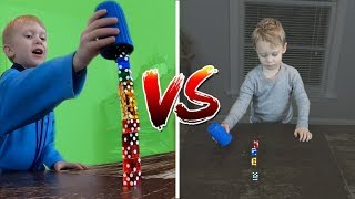 Little Brother Trick Shot Battle! | That's Amazing