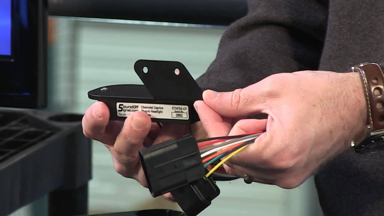 chevrolet wiring diagram kenmore elite dishwasher soundoff caprice plug-in headlight flasher - youtube